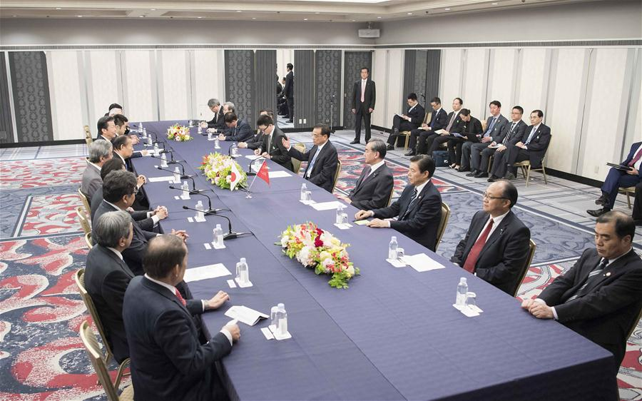 Chinese Premier Calls upon Japan's Political Parties to Hel